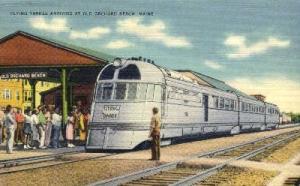 Flying Yankee, Old Orchard Beach, Maine, ME, USA Railroad Train Depot Postcar...