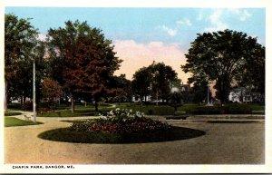 Maine Bangor Scene In Chapin Park