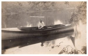 Antiquw Wood Boat  on river , RPC
