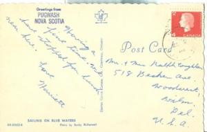 Canada, Greetings from Pugwash Nova Scotia 1960s used Pos...