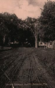 North Anson, Maine, ME, Union Street, Unused Antique Vintage Postcard g666