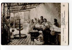 264261 Garden HAREM Slave TEA by AUBLET Vintage SALON 1911 y
