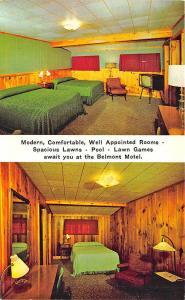 Skowhegan ME Belmont Motel on U. S. 201 Interior Duo View Postcard