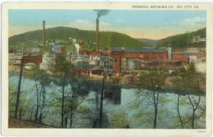 W/B Pennzoil Refining Co Oil City Pennsylvania PA