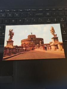 Vintage Postcard; Castle Angelo, Rome Italy