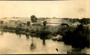 IN - Peru. Hagenbeck & Wallace Circus, Wabash River. Dated 1908 - RPPC  VERY ...