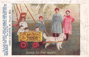 Advertising Post Card Berry Brothers Varnishes, Carr & Granger Mt Pleasant, M...