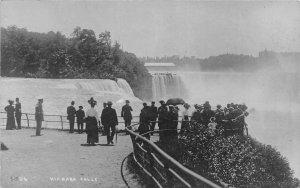 G22/ Niagara Falls New York RPPC Postcard c1920s Well-Dressed People