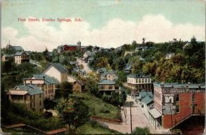 Eureka Springs Arkansas~Birdseye Pine Street~Andrews' Decorations Pictures~c1910