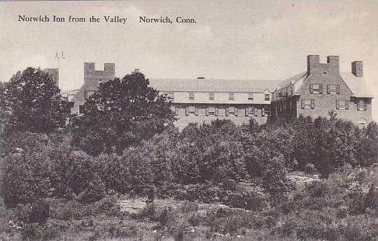 Connecticut Norwich The Norwich Inn From The Valley Albertype