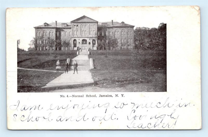 Postcard NY Jamaica Normal School 1906 View R69