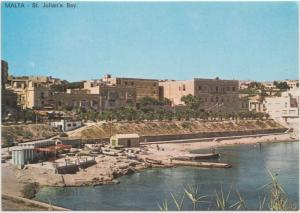 MALTA, St. Julian's Bay, unused Postcard
