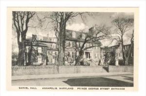 Prince George Street Entrance, Carvel Hall, Annapolis, Maryland, 1900-1910s