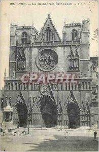 Postcard Old Lyon Cathedrale Saint Jean