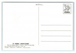Postcard St Thomas, US Virgin Islands (black border) T41