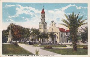 Catholic Cathedral & Plaza , St. AUGUSTINE , Florida , 1900-10s