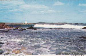 Rugged Coastline at Louisbourg, Lighthouse, Cape Breton Island, Nova Scotia, ...
