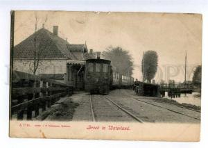 235433 Netherlands Broek in Waterland station TRAIN Vintage PC