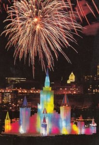 ST PAUL , Minnesota , 1992 ; Ice Structure , Fireworks