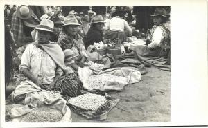 ecuador (?), Native Indians at the Market (1940s) RPPC (3)