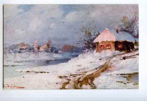 249056 Russia Dubrovin winter view Vintage Gorozhankin Moscow