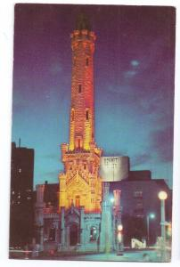 Old Water Tower At Night Chicago Illinois IL
