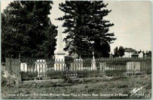 Fort Bridger, Wyoming RPPC Real Photo Postcard CEMETERY OF PIONEERS Sanborn