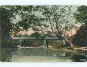 Divided-Back BRIDGE SCENE Richmond Indiana IN d5131