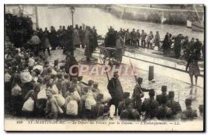 Postcard Old Steam Bagnard Ile de Re Saint Martin The departure of convicts f...