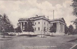 Washington DC Memorial Continental Hall Albertype