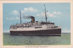 S.S. ST JOHN , Yarmouth , Nova Scotia , 20-30s