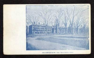 CT Brick Row Yale University NEW HAVEN CONN Postcard