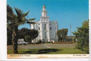 Mormon Temple, St. George, Utah, 1980 used Postcard