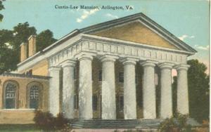 The Custis-Lee Mansion, at Arlington, VA, early 1900s unu...