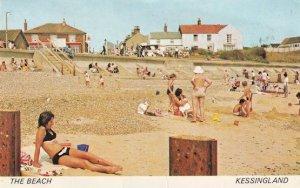 Angry Man at Kessingland Beach 1970s Postcard