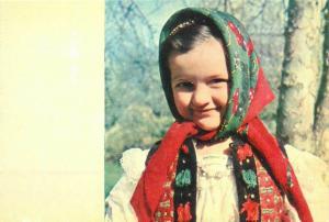 Romania Maramures folk art treasures purity girl folk costume
