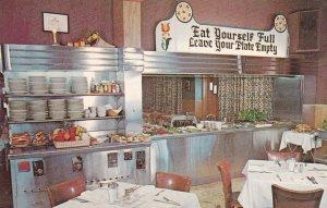 Miller's Smorgasbord, Lancaster , Pennsylvania , 50-60s ; Interior ; U.S. Rou...