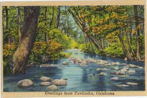 Linen Scenic Greetings from Pawhuska Oklahoma OK 1948