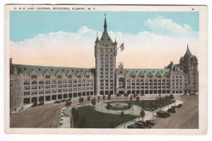 Delaware Hudson Railroad Evening Journal Newspaper Albany New York postcard