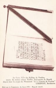 Chesnay Livre D'Or Verdun Architect Book Pen Monument Statue Antique Postcard