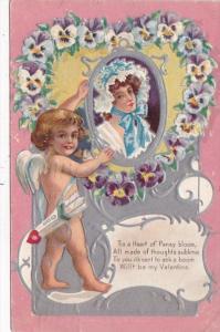 Valentine's Day Cupid & Beautiful Lady 1909
