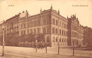 Austria Vienna, Wien, Handels-Akademie, carriage, railroad 1911