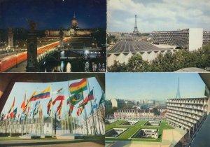 Paris Palais Maison De L'Unesco 4x French Postcard s