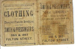 AP-120 NY Brooklyn Smith Pressingers Mens Clothes  Advertising Booklet