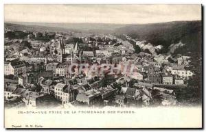 Old Postcard Spa Vue Prize De La Promenade Des Russians