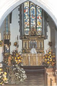 B87790 interor of slipper chapel walsingham uk