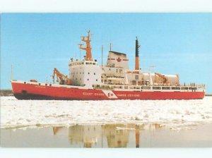 Pre-1980 BOAT Canadian Coast Guard Icebreaker Ship Boat In Canada AF4031@