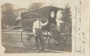 RP: CHICAGO , Illinois, 1911 ; Edgewater Laundry Wagon