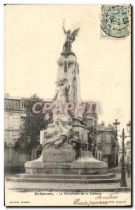 Old Postcard Soissons The Monument of the Defense Army