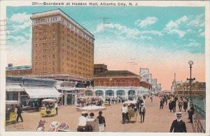 New Jersey Atlantic City Boardwalk At Haddon Hall 1924